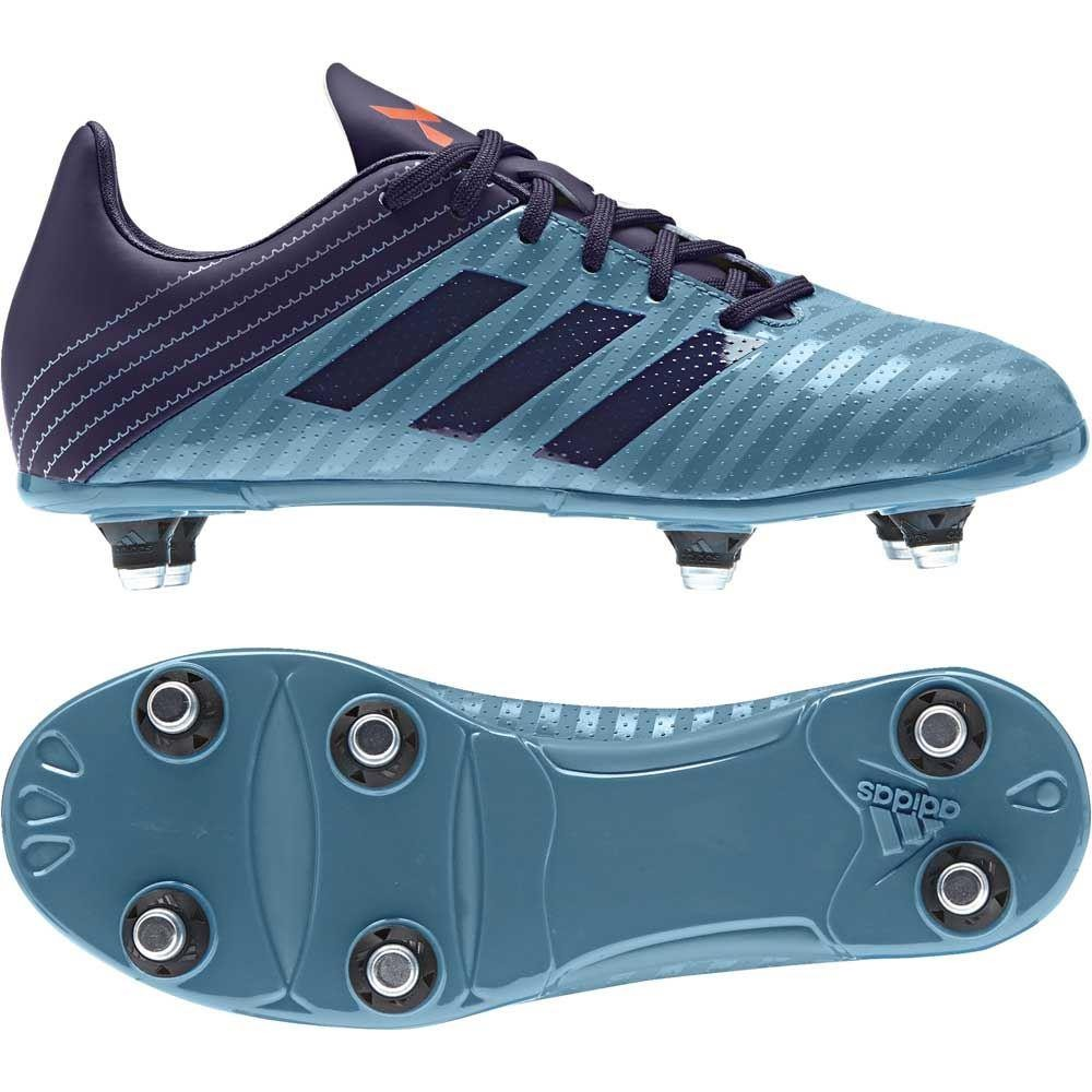 Adidas Malice Junior Soft Ground Rugby Boots Tactile Steel