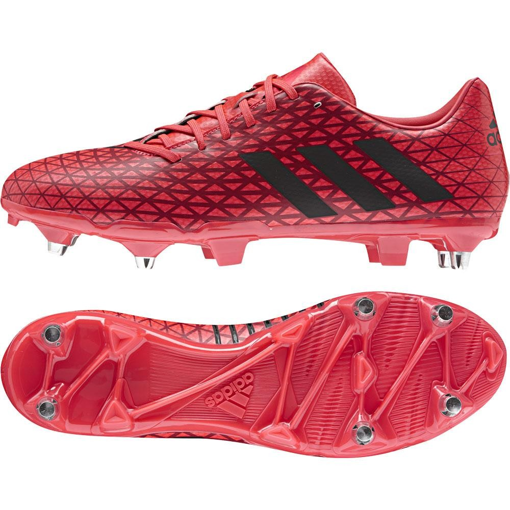 Adidas Malice Soft Ground Rugby Boots Shock Red